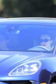 Drive Her New Porsche Out in Los Angeles 2020/09/25 6