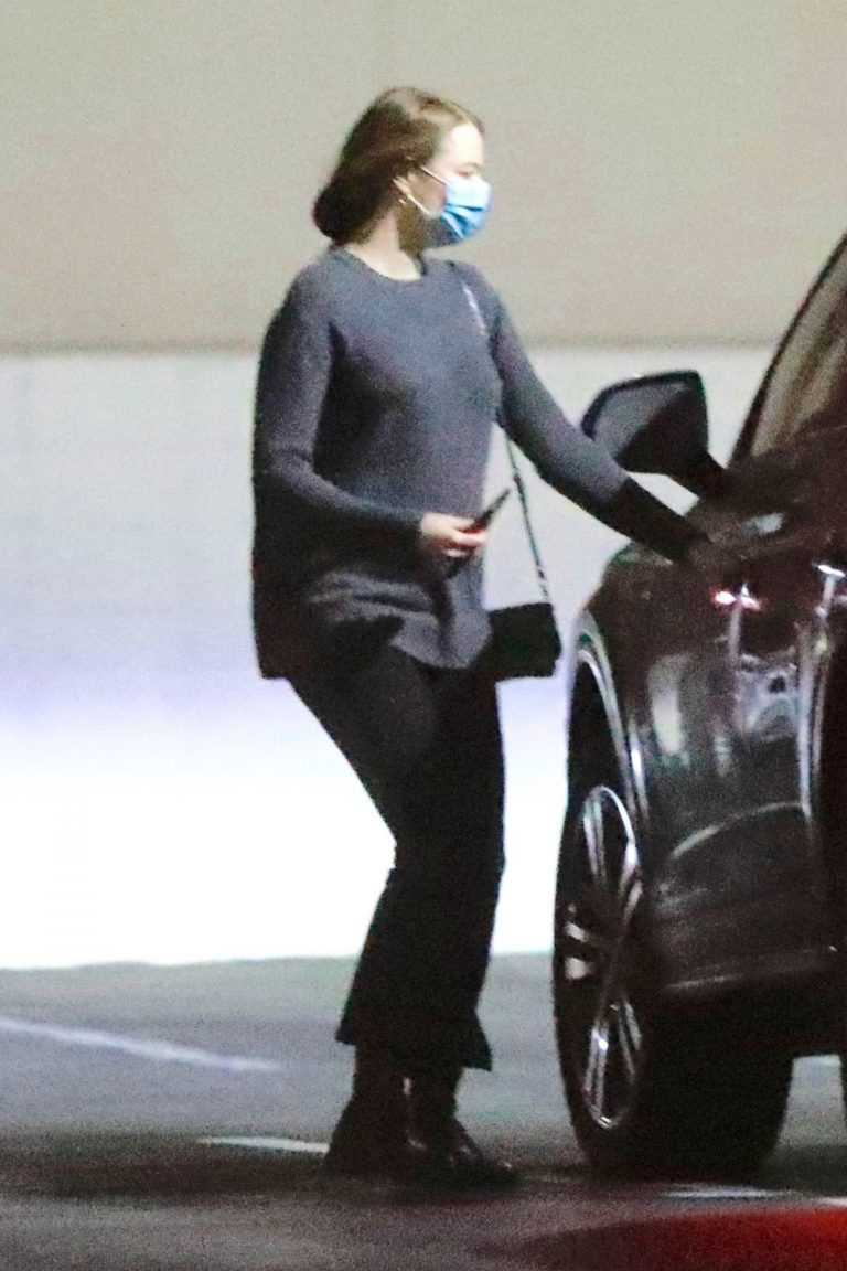 Emma Stone Arrives at Appointment in Los Angeles 2020/10/22 1