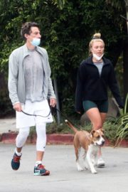 Florence Pugh and Zach Braff Out with Their Dog in Los Angeles 2020/10/23 5