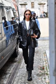 Irina Shayk Leaves Hugo Boss Fashion Show in Milan 2020/09/23 2