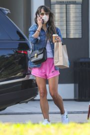 Jordana Brewster in a Pink Shorts Out for Coffee in Brentwood 2020/09/22 5