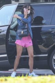 Jordana Brewster in a Pink Shorts Out for Coffee in Brentwood 2020/09/22 7