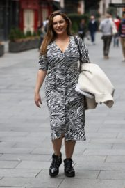 Kelly Brook Arrives at Heart Radio in London 2020/10/23 11
