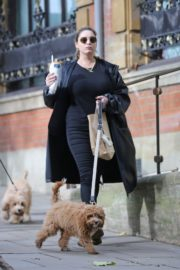 Kelly Brook Out with Her Dog in Hampstead 2020/10/22 9