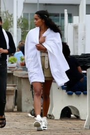 Laura Harrier on the Set of Her New Movie at Malibu Pier in Los Angeles 2020/10/26 7