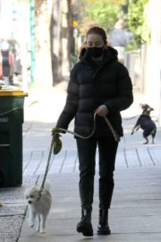 Madelaine Petsch Out with her Dog in Vancouver 2020/10/26 2