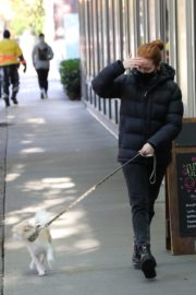 Madelaine Petsch Out with her Dog in Vancouver 2020/10/26 4
