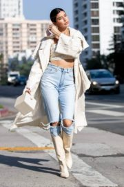 Nicole Williams in Ripped Denim Out in Los Angeles 2020/10/26 4