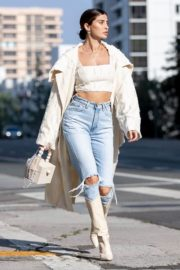 Nicole Williams in Ripped Denim Out in Los Angeles 2020/10/26 7