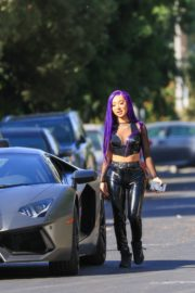 Nikita Dragun Out with Her Lamborghini in Hollywood 2020/10/26 2