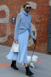 Olivia Palermo Out with Her Dog in New York 2020/10/24 9