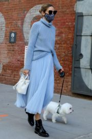 Olivia Palermo Out with Her Dog in New York 2020/10/24 10