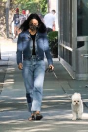 Out with Her Dog in Vancouver 2020/10/02 2
