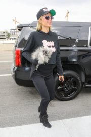 Paris Hilton and Carter Milliken Reum at LAX Airport in Los Angeles 2020/10/22 2