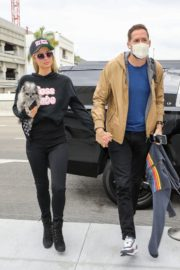 Paris Hilton and Carter Milliken Reum at LAX Airport in Los Angeles 2020/10/22 9