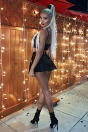 Pia Mia Perez in Black Short Skirt Instagram Photos 2020/10/25 3