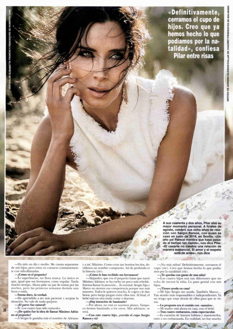 Pilar Rubio in Hola Espana!, October 2020 Issue 3