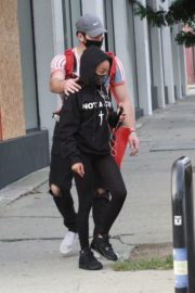 Skai Jackson and Alan Bersten Leaves Dance Rehearsal in Los Angeles 202/10/24 3