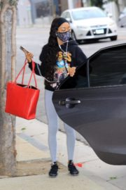 Skai Jackson Arrives at DWTS Studio in Los Angeles 2020/10/23 5
