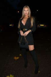 Tyne-Lexy Clarson Out for Dinner at Sexy Fish in London 2020/10/24 12