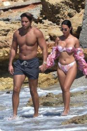 Yazmin Oukhellou in Bikini and James Lock at a Beach in Cyprus 2020/10/24 4