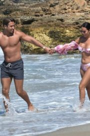 Yazmin Oukhellou in Bikini and James Lock at a Beach in Cyprus 2020/10/24 5