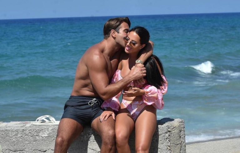 Yazmin Oukhellou in Bikini and James Lock at a Beach in Cyprus 2020/10/24 6