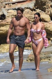 Yazmin Oukhellou in Bikini and James Lock at a Beach in Cyprus 2020/10/24 10