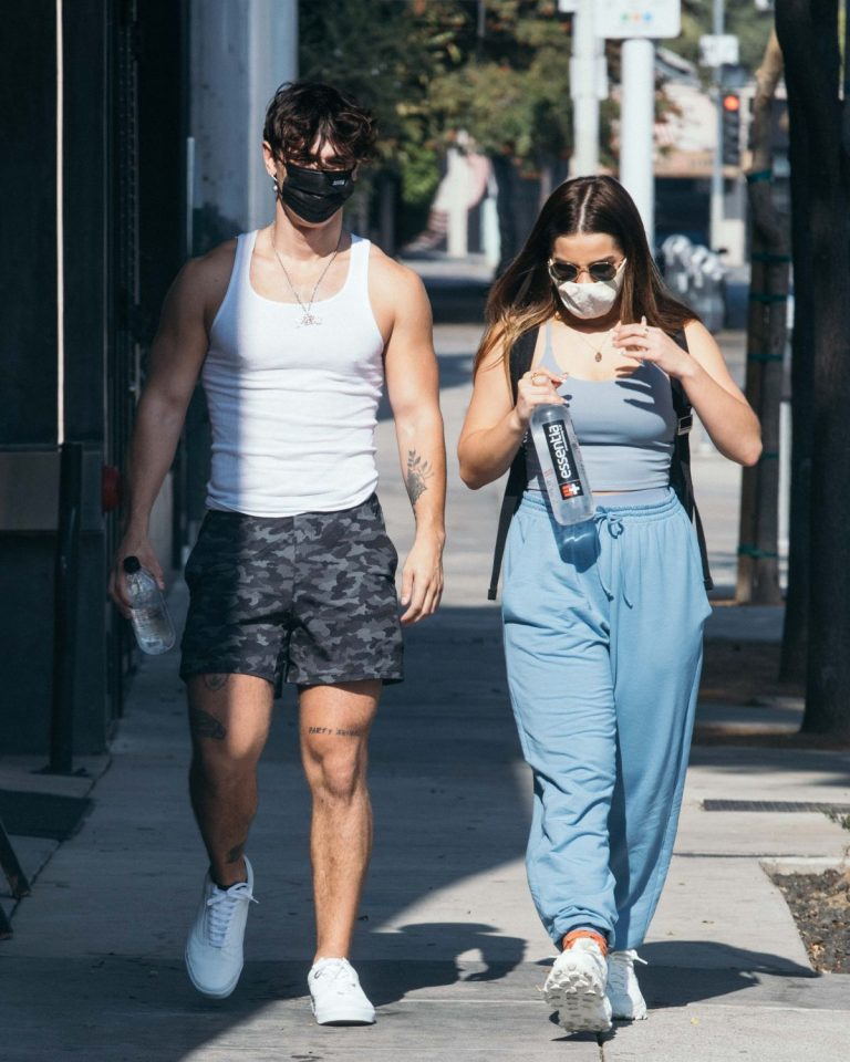 Addison Rae and Bryce Hall Leaves a Gym in West Hollywood 2020/11/26 3