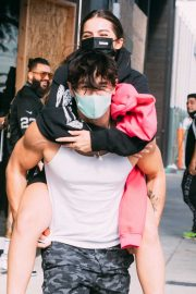 Addison Rae Gets Piggy Back Ride from Bryce Hall Out in Los Angeles 2020/11/12 3