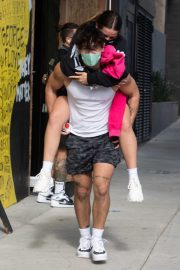 Addison Rae Gets Piggy Back Ride from Bryce Hall Out in Los Angeles 2020/11/12 5