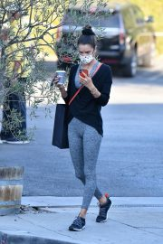 Alessandra Ambrosio in Tights Out for Ice Cream 2020/10/28 10