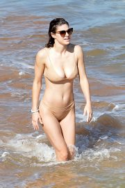 Alexandra Daddario in Skin Color Bikini at a Beach in Maui 2020/11/26 6