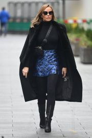 Amanda Holden Black Winter Chic Style arrives at Heart Radio in London 11/28/2020 7