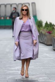 Amanda Holden in Light Purple Outfit Leaves Heart FM in London 11/26/2020 1