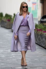 Amanda Holden in Light Purple Outfit Leaves Heart FM in London 11/26/2020 2
