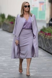 Amanda Holden in Light Purple Outfit Leaves Heart FM in London 11/26/2020 3
