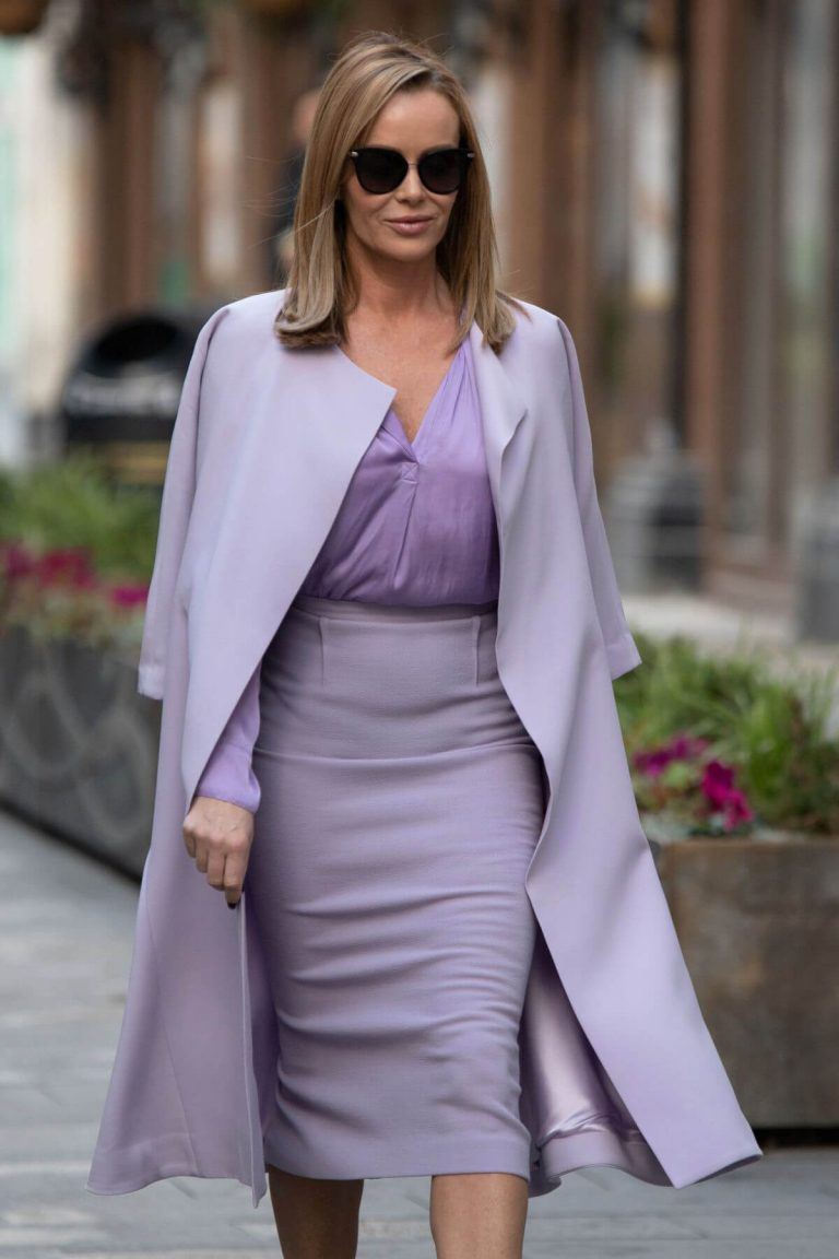 Amanda Holden in Light Purple Outfit Leaves Heart FM in London 11/26/2020 4