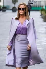 Amanda Holden in Light Purple Outfit Leaves Heart FM in London 11/26/2020 5