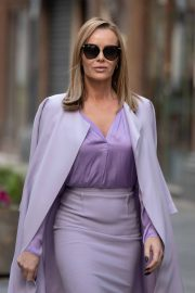 Amanda Holden in Light Purple Outfit Leaves Heart FM in London 11/26/2020 6