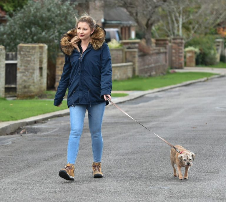 Amy Hart Out with Her Dog in West Sussex 2020/11/27 7