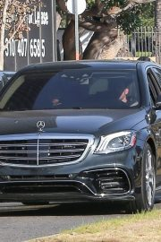 Ana de Armas and Ben Affleck Out Driving Their Mercedes in Los Angeles 2020/11/27 4