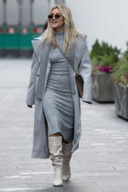Ashley Roberts seen in Grey Outfit Leaves Heart FM Studios in London 11/26/2020 1