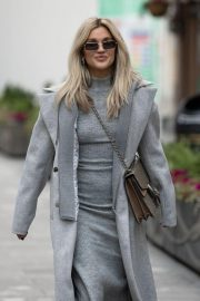 Ashley Roberts seen in Grey Outfit Leaves Heart FM Studios in London 11/26/2020 2