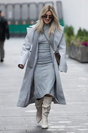 Ashley Roberts seen in Grey Outfit Leaves Heart FM Studios in London 11/26/2020 4