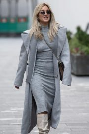 Ashley Roberts seen in Grey Outfit Leaves Heart FM Studios in London 11/26/2020 6