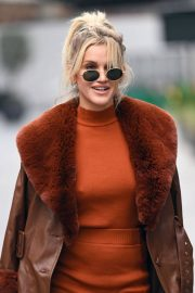 Ashley Roberts seen in Rust Color Dress Arrives at Heart Radio in London 11/24/2020 3