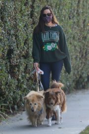 Aubrey Plaza Out with Her Dogs in Los Angeles 2020/11/21 1