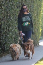 Aubrey Plaza Out with Her Dogs in Los Angeles 2020/11/21 2