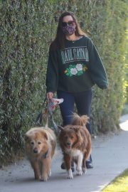 Aubrey Plaza Out with Her Dogs in Los Angeles 2020/11/21 5